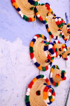 Hats worn by women from the Northern Regions of Morocco, so colorful!