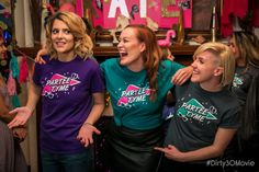 "Official t-shirt design featured in the Dirty 30 movie starring Grace Helbig, Hannah Hart and Mamrie Hart.  ""The perfect shirt to sneak into the Dirty 30 party! These shirts are as comfortab..."
