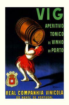 Port Wine Barrels Aperitivo Portugal by Cappiello Vintage Poster Repro FREE S/H Vintage Advertising Posters, Vintage Advertisements, Vintage Posters, Laura Lee, Portugal, Port Wine, Ad Art, Vintage Pictures, Graphic Illustration