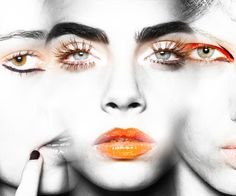Halloween Beauty - Halloween Makeup Inspiration From the Runway - Photos Beat Face Makeup, Trendy Halloween, Halloween 2017, Glitter Pigment, High Fashion Makeup, Orange Glitter, Orange Crush, Celebrity Beauty, Organic Skin Care