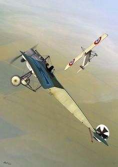 Fokker E.III vs Morane-Saulnier Type L 'Parasol' (Jerry Boucher)