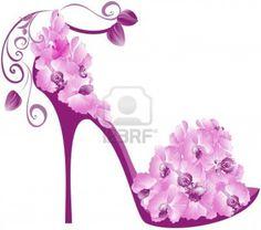 Flower shoe artwork