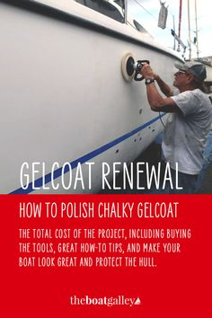 With age, gelcoat gets chalky unless it is polished regularly. But even if your boat's gelcoat has been neglected, it's possible to bring it back with just a bit of DIY elbow grease! Boston Whaler Boats, Pontoon Boat Accessories, Boat Cleaning, Boating Tips, Sailboat Interior, Sailboat Living, Boat Restoration, Boat Projects, Boat Stuff
