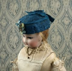 Beautiful Antique French Hat for Huret, Rohmer or other French Fashion Doll