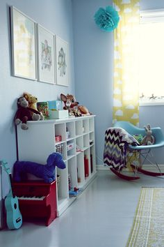 the boo and the boy: eclectic kids' rooms // LOVE the cloud curtains. Rental House Decorating, Ikea, Room Of One's Own, Yellow Curtains, Kids Curtains, Room Setup, Kids Decor, Home Decor, Nursery Inspiration