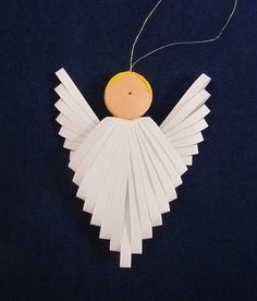 Quilled Angel Ornament by TheQuirkyQuiller on Etsy