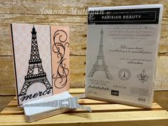 Card showcasing the new Parisian Beauty stamp set from my presentation at OnStage 2019 in Hartford, CT. Created by Joanne Mulligan, Independent Stampin' Up! Paris Cards, Paris Map, Wink Of Stella, Tour Eiffel, Accent Pieces, Homemade Cards, Stampin Up Cards, Presentation, Card Making