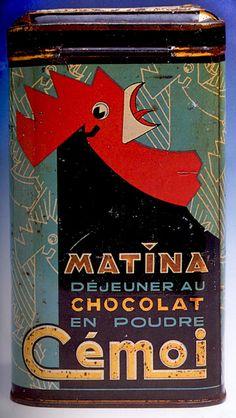 notablegem:  Matina Powdered Chocolate box 1930s (via animalarium)
