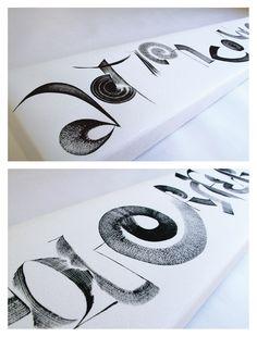 Hiroko Shimizu, Action Conquers Fear (detail)   Contemporary calligraphy