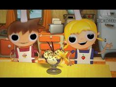 ▶ Telmo and Tula - Vanilla ice cream recipe, little cooks cartoons - YouTube