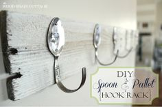 Cool Stuff to DIY with Old Spoons — and a few forks | http://diyfunideas.com/ .....BEST DIY WEBSITE EVER!