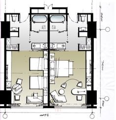 Bedroom hotel plan 23 New Ideas Interior Design Layout, Hotel Design Interior, Hotel Design Architecture, Design Hotel, Hotel Bedroom Design, Resort Plan, Hotel Floor Plan, Architectural Floor Plans, Hotel Concept