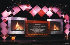 Awards show staging that really pops. For quote or configuration consultation… Corporate Event Design, Chinese Element, Wall Design, Set Design, Church Design, Gala Dinner, Stage Set, Stage Lighting, Stage Design