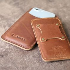 Holtz Leather Co Fine Leather Goods are made in the USA with the finest of Full Grain American leathers. Browse our quality wallets, drinkware, & more. Leather Holster, Leather Pouch, Leather Cover, Sewing Leather, Leather Craft, Iphone Holster, Holtz Leather, Leather Cell Phone Cases, Leather Projects