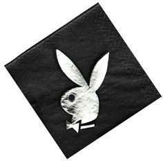 Playboy Bunny Serviettes Black
