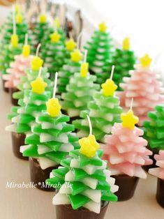 クリスマスツリーの森・・・ : ミラベル*ミラベル #Xmas #candle #キャンドル #クリスマスツリー Cute Candles, Gel Candles, Unique Candles, Luxury Candles, Scented Candles, Diy Candle Diffuser, Diy Cadeau, Candle Art, Candle Store