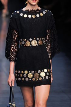 Dolce & Gabbana at Milan Fashion Week Spring 2014 - Roman inspiration