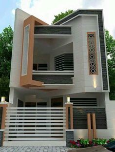 The exterior is the face of the house that everyone will see in the first part. Take a look at the world's most beautiful modern homes and find Bungalow House Design, House Front Design, Small House Design, Cool House Designs, Modern House Design, Modern House Plans, Small House Plans, Exterior Design, House Styles
