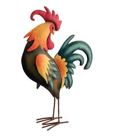 Love this Looking Back Metal Rooster Figurine on #zulily! #zulilyfinds