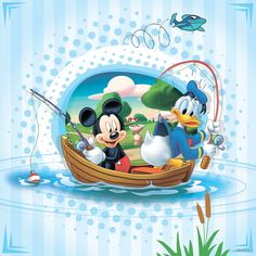 Mickey Mouse And Donald Duck Fishing With Boat Disney Image Cute Disney Pictures, Disney Images, Disney Art, Mickey Mouse And Friends, Mickey Minnie Mouse, Image Mickey, Minnie Mouse Drawing, Japanese Cherry Tree, Donald And Daisy Duck