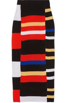 Proenza Schouler - Striped Crochet-knit Midi Skirt - Red - x small