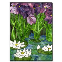 Free Pattern, Iris And Water Lily - Glass Crafters Stained Glass Supplies