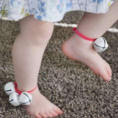 """442 Likes, 21 Comments - A Crafty LIVing • Olivia (@acraftyliving) on Instagram: """"The best (& worst) thing you could possibly give a Toddler!   Miss19m LOVED her bell anklets…"""""""