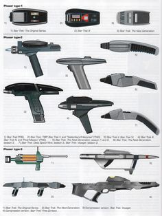 Evolution of the Star Trek Phaser