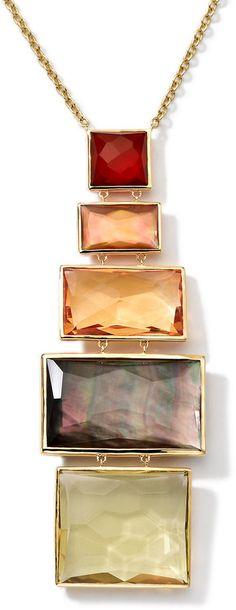 Ippolita 18k Gold Rock Candy Gelato Pendant Necklace