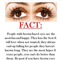 I have one hazel eye and one brown