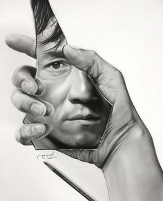 Jackie Chan by Aymanarts Realistic Sketch, Realistic Pencil Drawings, Art Drawings Sketches Simple, Pencil Art Drawings, 3d Sketch, Pencil Sketching, Drawing Art, Drawing Ideas, Self Portrait Drawing
