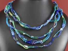 Freeform beadweaving by Saturday Sequins. Part of the A Time To Stitch blog hop.