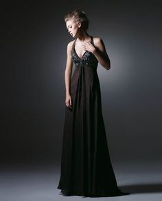 Backless Beaading Draping Chiffon Brown Evening Gowns