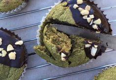 Banana matcha chocolate vegan muffins recipe