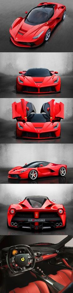LaFerrari 2013- ~The Prancing Horse's eagerly-anticipated limited-series special, of which just 499 will be built, made its world debut 3/5/2013 at the Geneva International Motor Show. #Ferrari