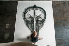 Artist's Turns Body Movement Into A Drawing