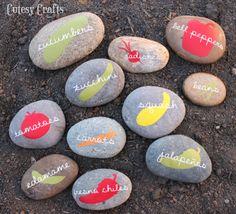 Cutesy Crafts: Vinyl Garden Markers