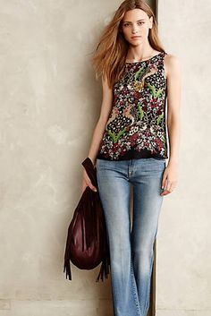 Paisley Leaf Tank on Anthropologie