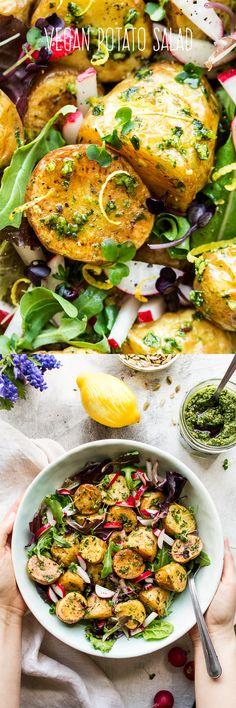 #pesto #salad #potato #newpotatoes #vegan #potatoes #potatosalad #wildgarlic #healthy #easy #lunch #appetizer