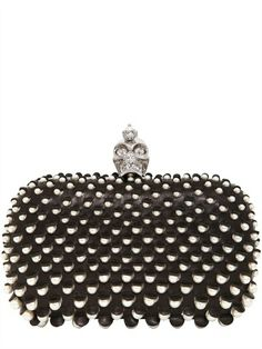 Alexander McQueen Pearls Nappa Leather Skull Box Clutch on shopstyle.com