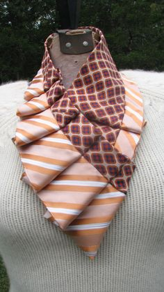 NEW Pleated Ascot Ruffled Neck Scarf Necktie by TieTandem
