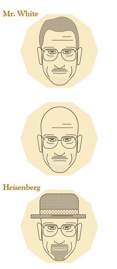 Faces of Breaking Bad by Eshwar - Emilio Cassanese, via Behance