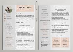 Professional Resume /CV Template - 9 by CreativeLab on @creativemarket
