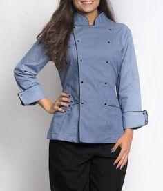 Resultado de imagem para dólmã  feminino Jeans, Chef Jackets, Chef Coats, Cake, Fashion, Confectionery, Vestidos, Aprons, Gastronomia