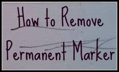 Removing permanent marker... good to know for future reference.