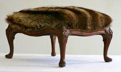 #Recycled #Fur Jacket Foot Stool! http://www.fursbygartenhaus.com/