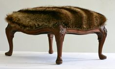 #Recycled #Fur Jacket Foot Stool! http://www.fursbygartenhaus.com/
