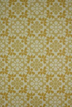 Vintage retro wallpaper from  the  seventies with geometric pattern.