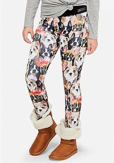faa17458b3048 Justice Girls PUPPY Print Ful Length Leggings Size 20 NWT #Justice Printed  Leggings, Jeggings