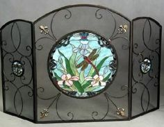 85 Stained Glass Fire Screens Ideas Stained Glass Glass Fireplace Screen Stained Glass Fireplace Screen